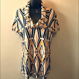 Cable & Gauge NWT Mustard, Black, White Tunic Top